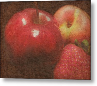 Still Life Fruit Metal Print by Cindy Wright