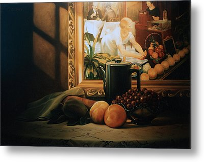 Still Life With Hopper Metal Print by Patrick Anthony Pierson