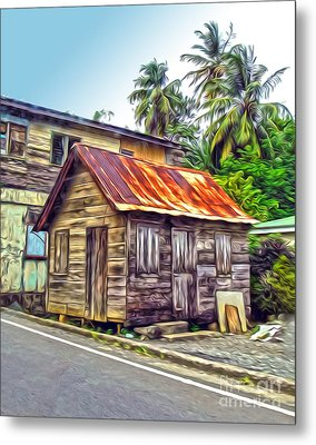 Stlucia - Rusted Shack Metal Print by Gregory Dyer
