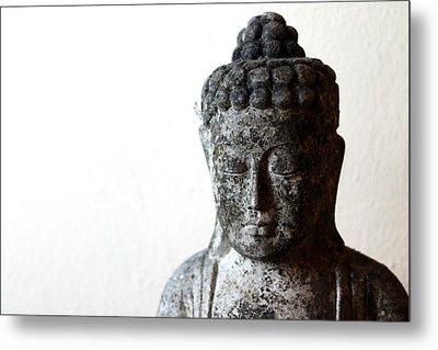 Stone Buddha Metal Print by Janita Topan