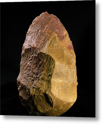 Stone Tool, Sima De Los Huesos Metal Print by Javier Truebamsf