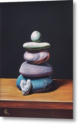 Stone Tower 2 Metal Print by Elena Kolotusha