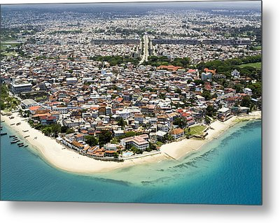 Stone Town Of Zanzibar Is The Cultural Metal Print by Michael Fay