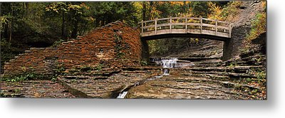 Stone Walls And Wooden Bridges Metal Print by Joshua House