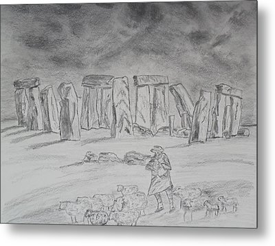 Stonehenge Study Metal Print by Brian Hustead