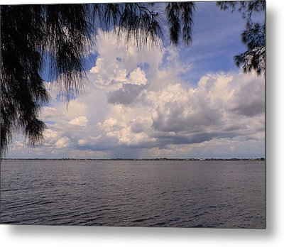 Storm Across The River Metal Print by Rosalie Scanlon