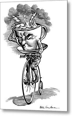 Storm In A Teacup, Conceptual Artwork Metal Print by Bill Sanderson