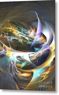 Storm's Ear - Fractal Art Metal Print by Sipo Liimatainen