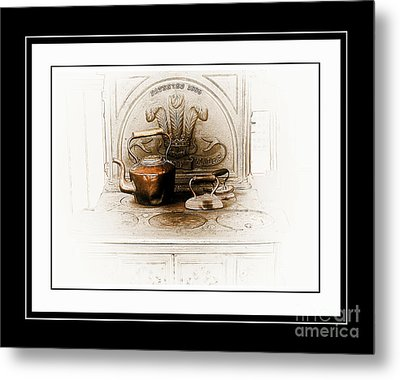 Stove Patent 1885 Metal Print by Elaine Manley