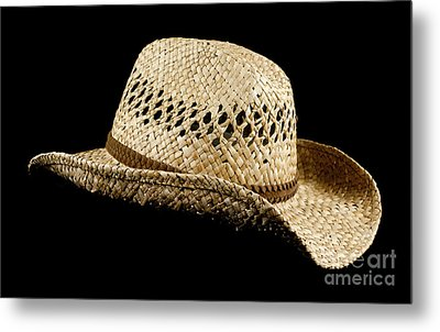 Straw Hat Metal Print by Blink Images