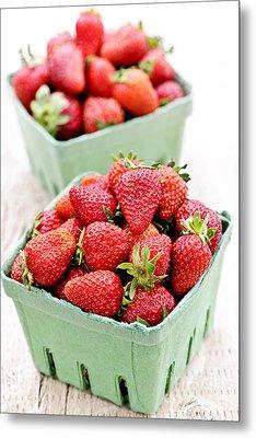 Strawberries Metal Print by Elena Elisseeva