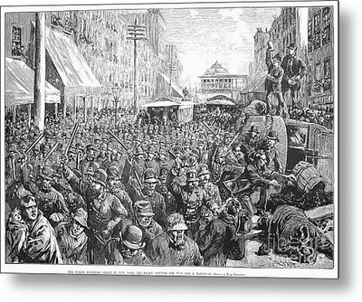 Street Car Strike, 1886 Metal Print by Granger