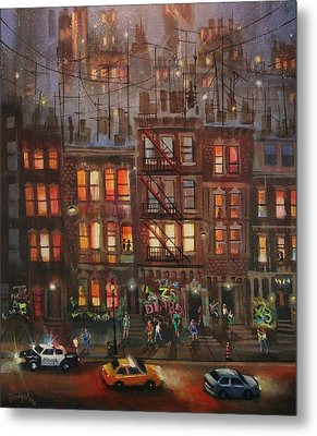 Street Life Metal Print by Tom Shropshire