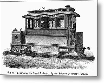 Street Locomotive, C1870 Metal Print by Granger