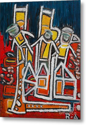 Street Musicians Metal Print by Agnes Roman