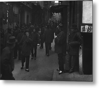 Street Of The Gamblers Ross Alley Metal Print by Everett