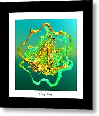 String Theory D Metal Print by Betsy Knapp