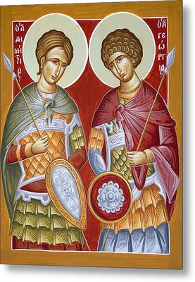 Sts Dimitrios And George Metal Print by Julia Bridget Hayes