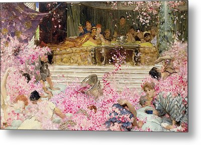 Study For The Roses Of Heliogabulus Metal Print by Sir Lawrence Alma-Tadema