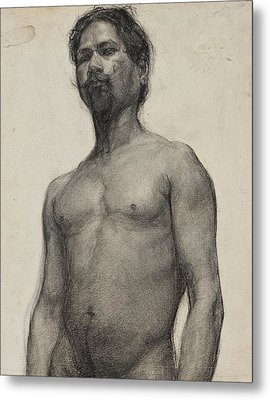 Study Of A Negro Man Metal Print by Henry Ossawa Tanner