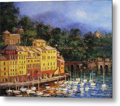 Summer Afternoon In Portofino Metal Print by R W Goetting
