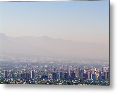 Summer Smog And Pollution In Santiagos Metal Print by Jason Edwards