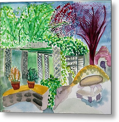 Summer's Past Farms Metal Print by Charlotte Hickcox