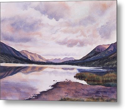 Summit Lake Evening Shadows Metal Print by Sharon Freeman