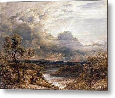 Sun Behind Clouds Metal Print by John Linnell