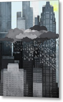 Sun Coming Out During A Thunderstorm Metal Print by Jutta Kuss