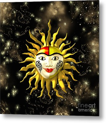 Sun Face  Metal Print by Methune Hively