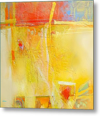 Sun On Wall Metal Print by Dale  Witherow