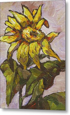 Sunflower 5 Metal Print by Sandy Tracey