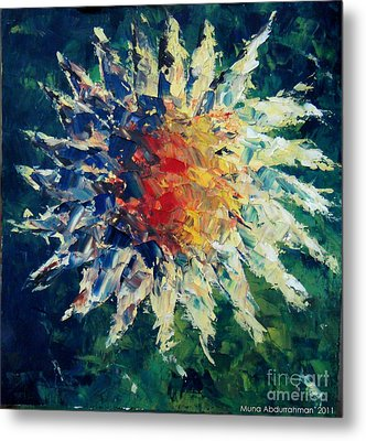 Sunflower Metal Print by Muna Abdurrahman