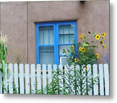 Sunflower Window  Metal Print by Vicki Lomay