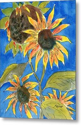 Sunflowers Metal Print by Marsha Elliott