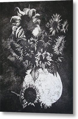 Sunflowers Metal Print by Sonja Guard