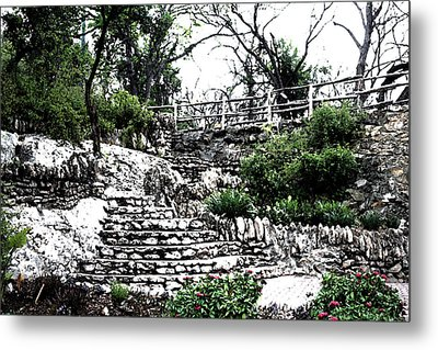 Sunken Gardens Collection I Metal Print by Diana Gonzalez
