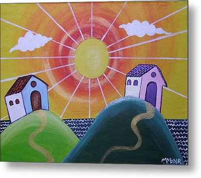 Sunny Metal Print by Monica Moser