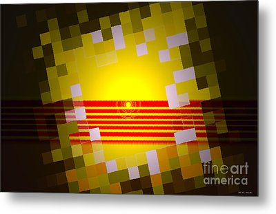 Sunrise Abstract Digital Painting  Metal Print by Heinz G Mielke