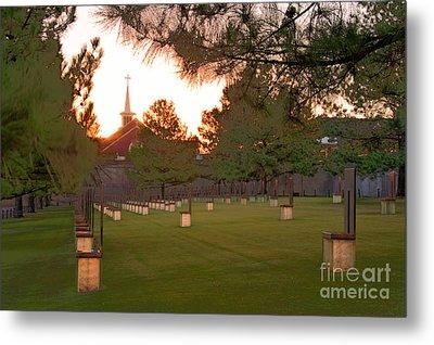 Sunrise At The Alfred P Murrah Memorial II Metal Print by Tamyra Ayles
