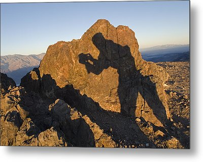 Sunrise Over Death Valley From Dantes Metal Print by Rich Reid