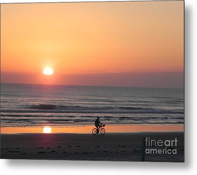 Sunrise Reflection Metal Print by Sandy Owens