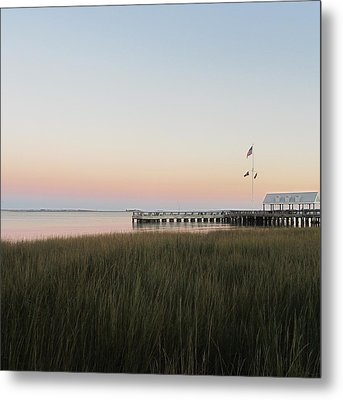 Sunset At Charleston Bay 2 Metal Print by Cathy Lindsey