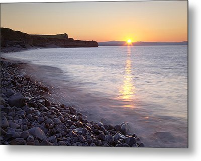 Sunset At Kilve Beach, Somerset Metal Print by Nick Cable