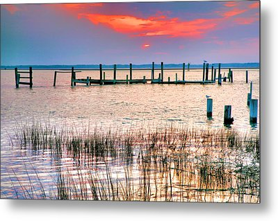 Sunset Bay Iv Metal Print by Steven Ainsworth