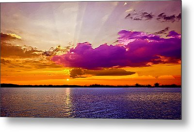 Sunset Metal Print by Bob and Nadine Johnston