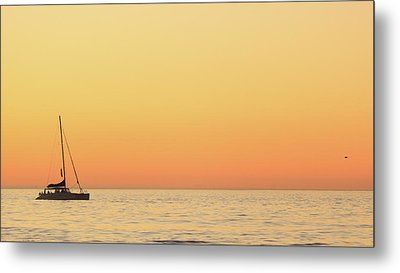 Sunset Cruise At Cape Town Metal Print by Tony Hawthorne