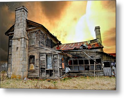 Sunset Homestead Metal Print by Marty Koch