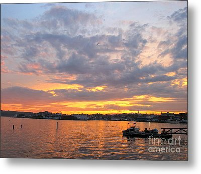 Sunset In Glouchester Metal Print by B Rossitto